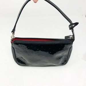 Lord & Taylor Italian Leather purse black patent s